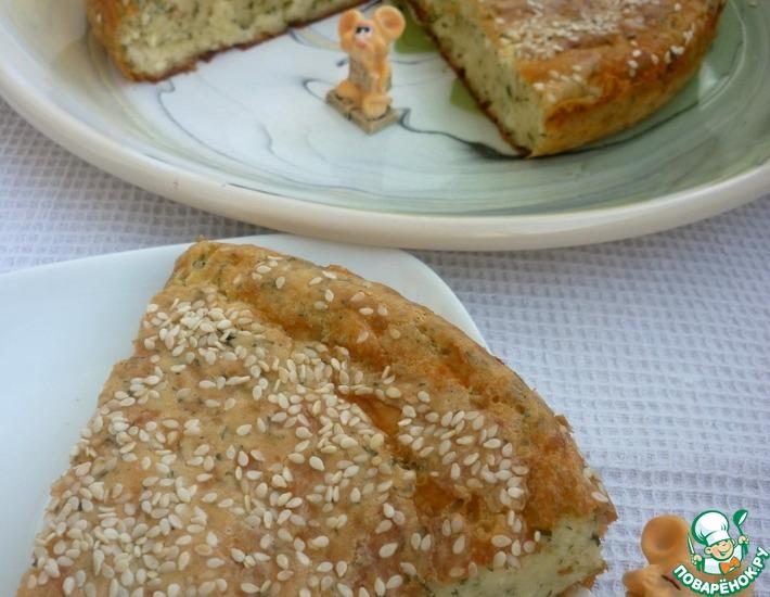 Рецепт: Быстрый сырно-творожный пирог