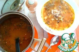 Рецепт: Суп с рыбными консервами