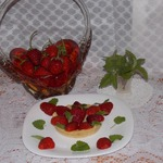 Мини-тарт с клубникой