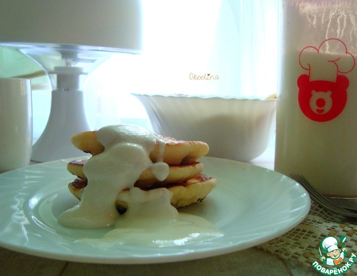 Рецепт: Оладьи на йогурте