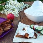 Курица Мулатка с йогуртовым соусом