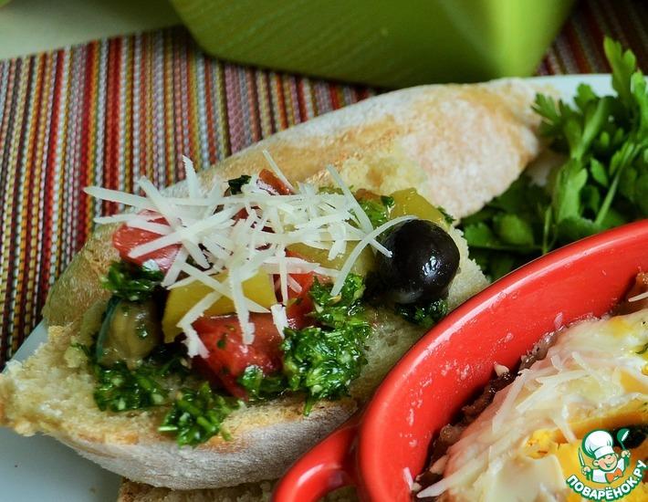 Рецепт: Капонатта из овощей с сальса верди
