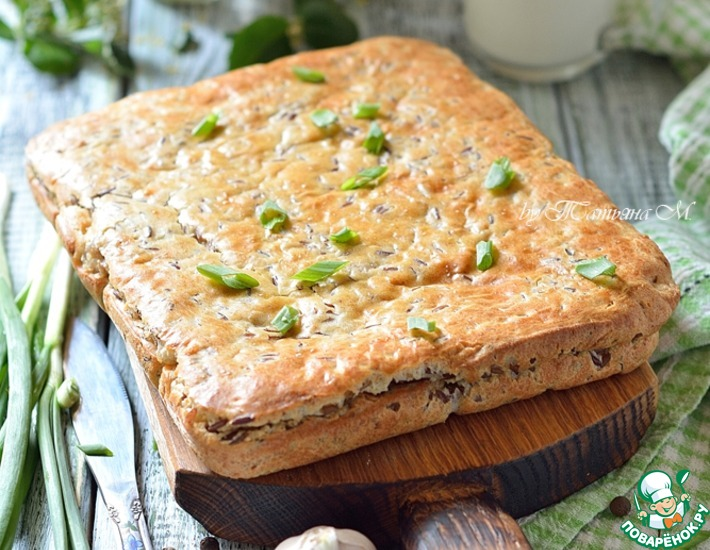 Рецепт: Мясной пирог с красным рисом