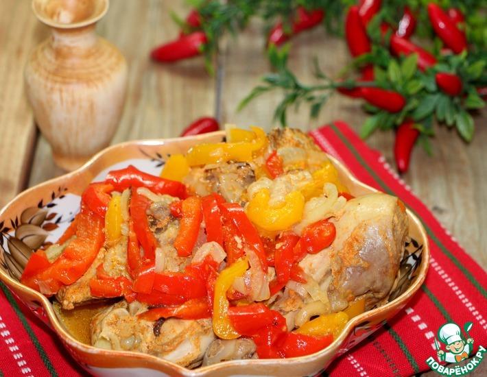 Рецепт: Курица с овощами Восточные напевы