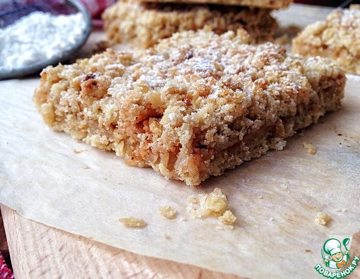 Рецепт: Овсяный пирог с яблоками