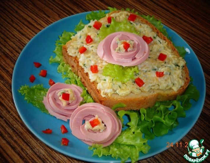 Рецепт: Бутерброды с фальшивым сыром