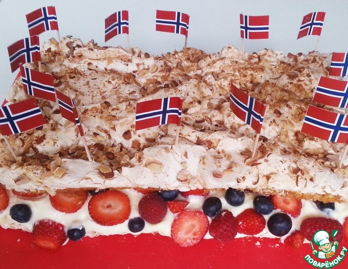 Рецепт: Лучший торт в мире с ягодами