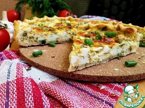 Галета с капустой и перепелиными яйцами – кулинарный рецепт
