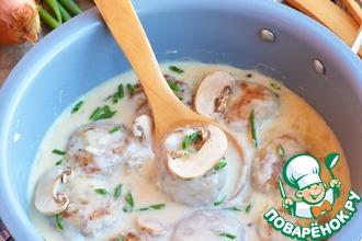 Рецепт: Тефтели с фетой и грибами