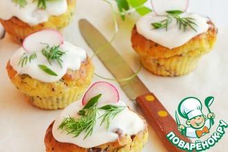 Рецепт: Закусочные картофельные кексы