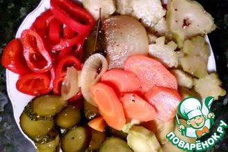 Рецепт: Быстрое маринованное овощное ассорти
