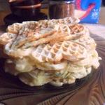 Сырные вафли с манкой