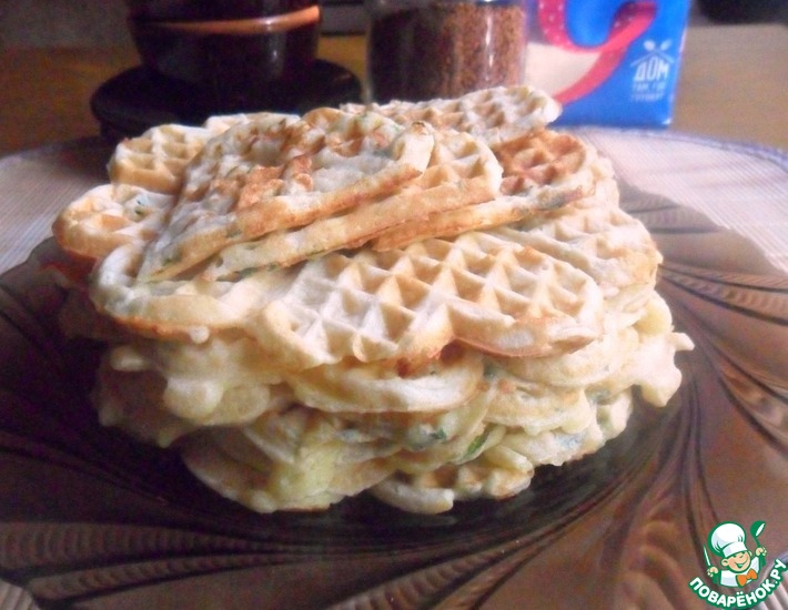 Рецепт: Сырные вафли с манкой