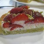 Клубничный пирог с базиликом и маскарпоне