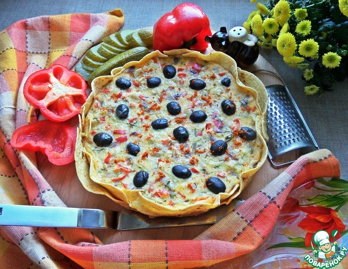 Рецепт: Пирог-запеканка на тортилье