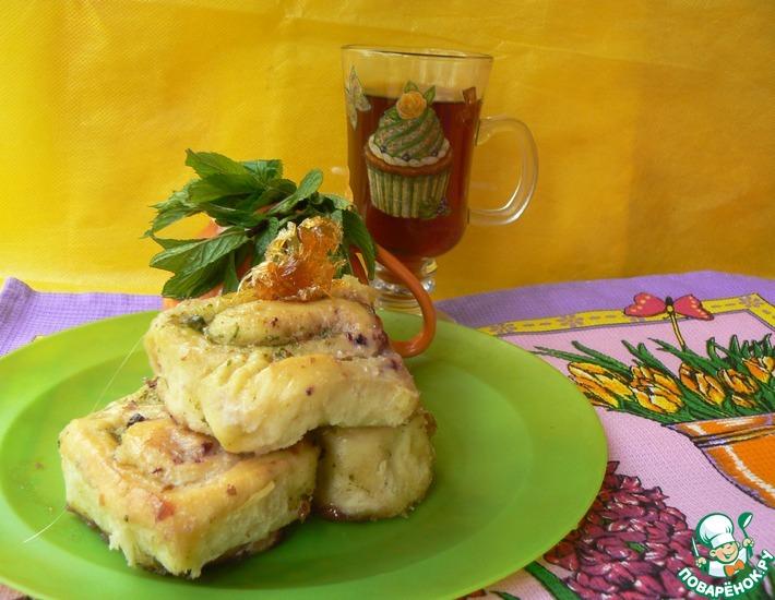 Рецепт: Карамельно-ореховые булочки