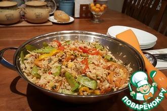 Рецепт: Рис Первомай с киноа, овощами, грибами