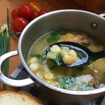 Куриный суп с манными клёцками