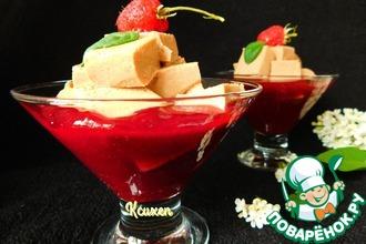 Рецепт: Желейный десерт с шоколадным йогуртом