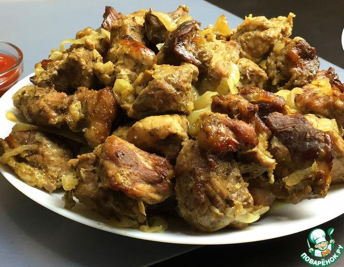 Рецепт: Шашлык из свинины в духовке