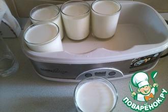 Рецепт: Натуральный йогурт на хлебной закваске