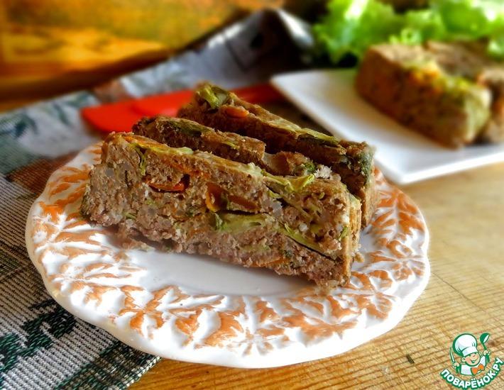 Рецепт: Мясной пудинг с овощами