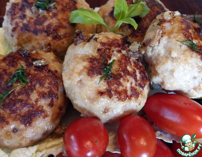 Рецепт: Куриные бомбочки в средиземноморском стиле