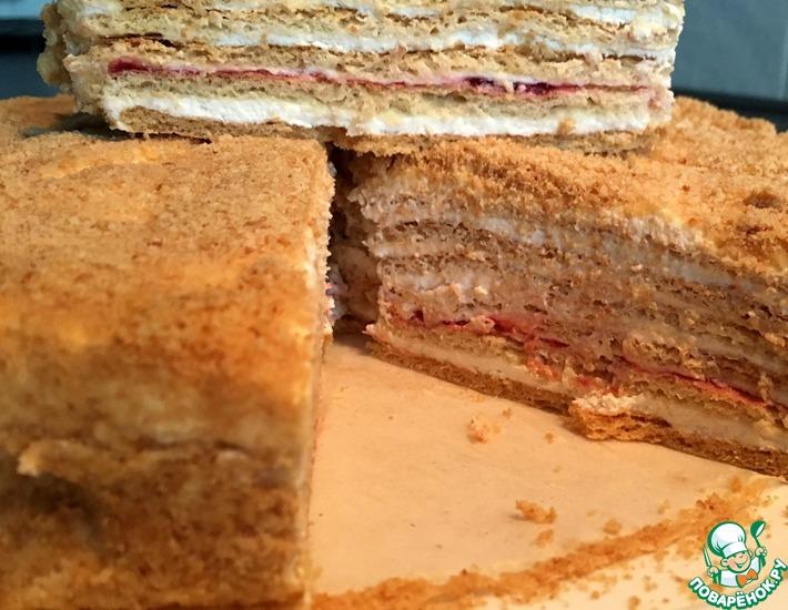 Рецепт: Торт Медовик на сметанном креме