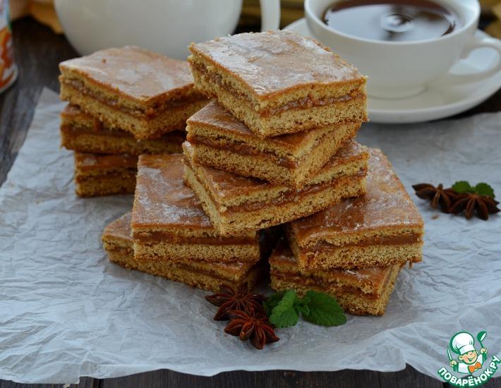 Рецепт: Коврижка с вареной сгущенкой