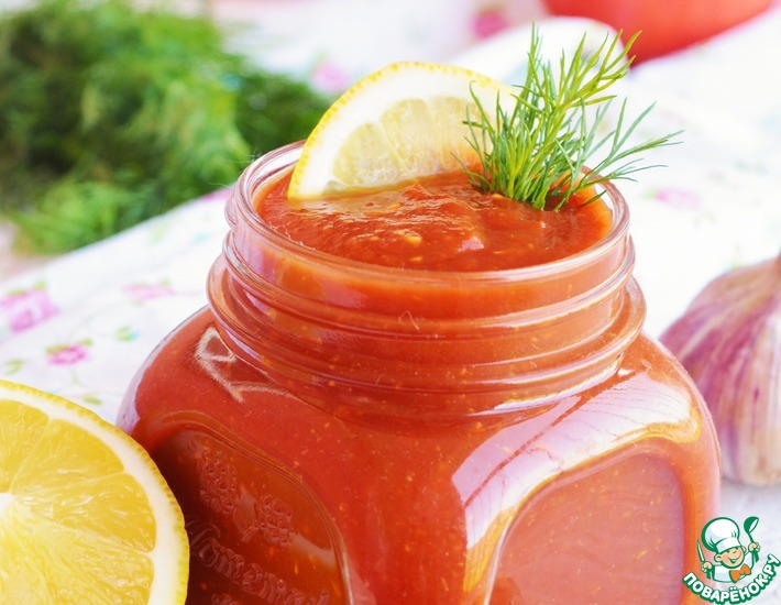 Рецепт: Томатный соус с лимоном для пикника