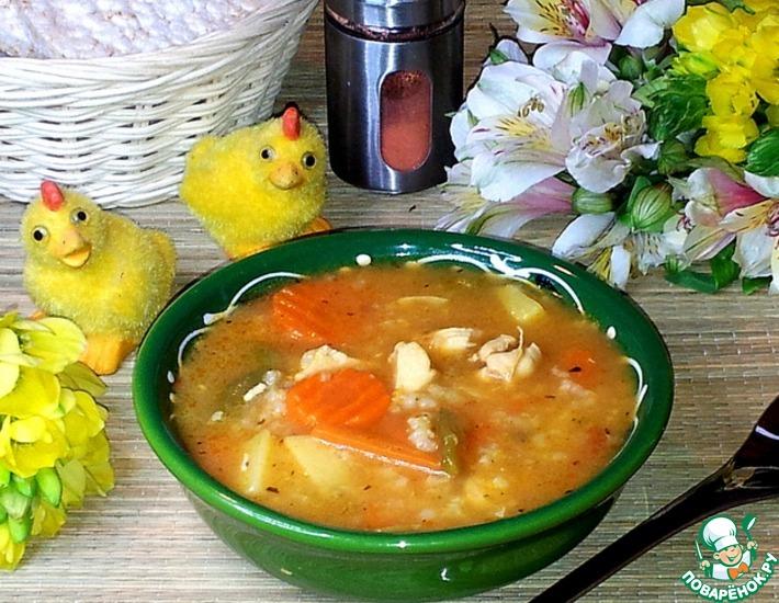 Рецепт: Рисовый суп с индейкой