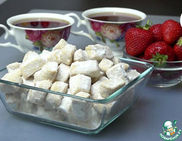 Рецепт: Песочное печенье Наслаждение