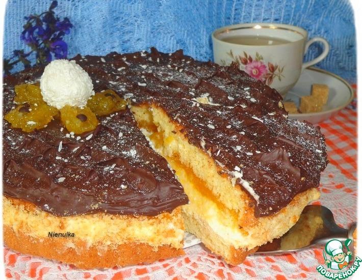 рецепт творожно-манный торт