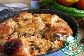 Рецепт: Ленивая сковорода с рисом и курицей