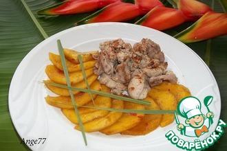 Рецепт: Куриное филе с пряным манго