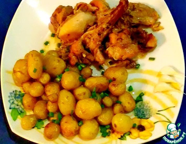 Рецепт: Кролик Зайка утомился с молодым картофелем