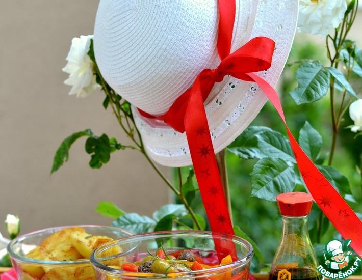 Рецепт: Салат с овощами на гриле