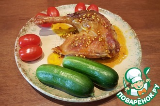 Рецепт: Просто запечённая утка с изумительным соусом