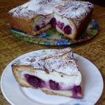 Пирог с творожно-вишнёвой начинкой
