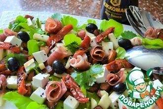 Рецепт: Салат с хамоном и фруктами