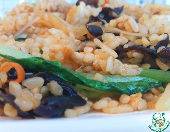 Рецепт: Жареный рис с говядиной и овощами