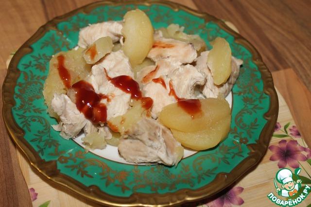 Рецепт Индейка в яблочном соусе