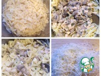 Фарфалле с курицей и грибами ингредиенты
