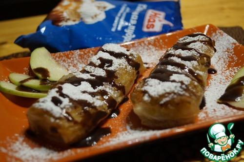 Рецепт Бананово-яблочные рисовые блинчики