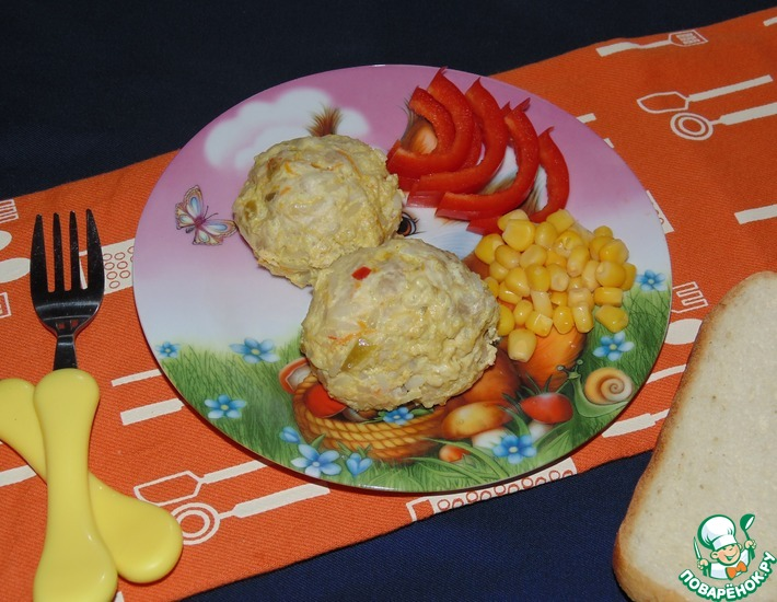 Рецепт: Детские тефтели с кабачком