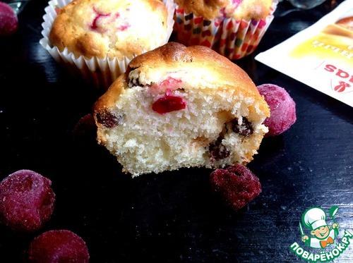 Рецепт Ягодные кексы с шоколадными шариками