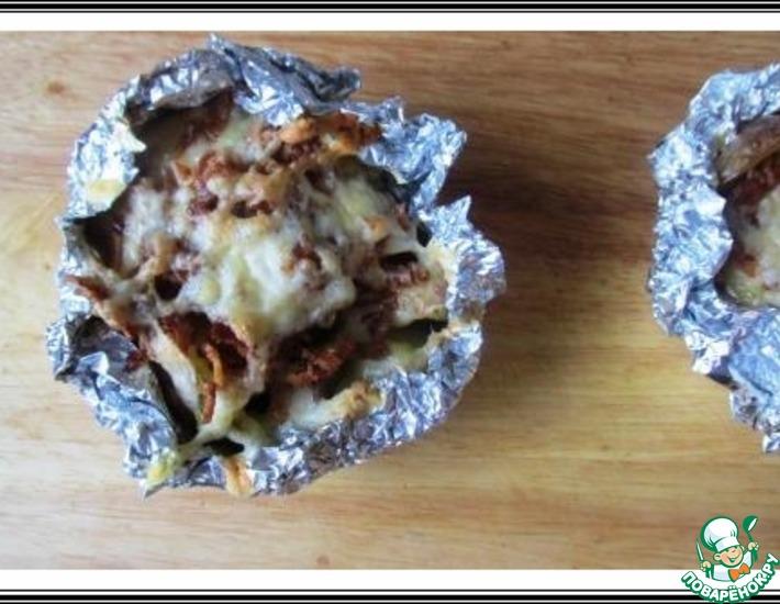 Рецепт: Запеченный картофель с сыром и беконом