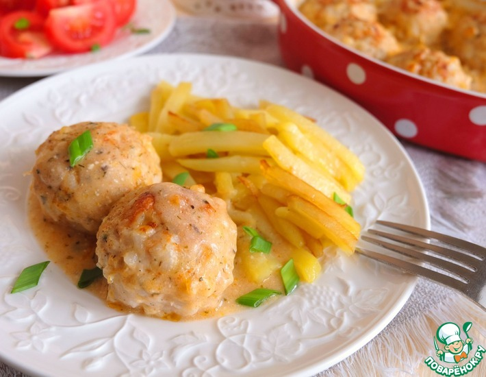 Рецепт: Тефтели из куриного мяса с сыром