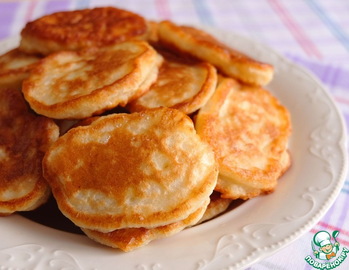 Рецепт: Рисово-яблочные оладьи