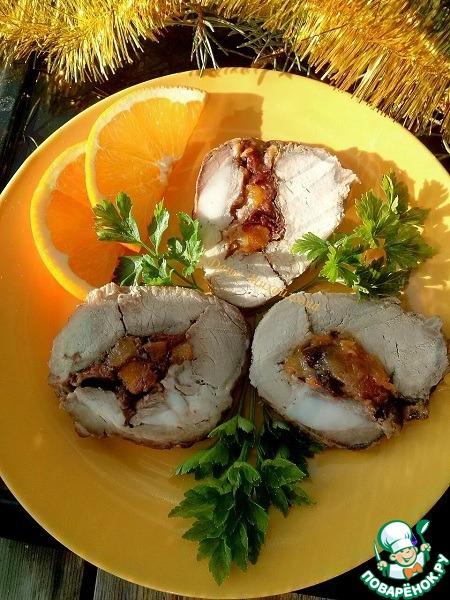 Рецепт Запеченная свинина под апельсиновым соусом